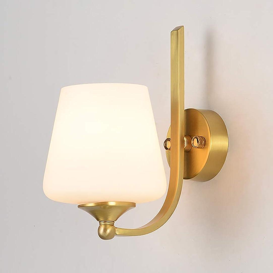人物富垂直KUCHEQICHE 壁ランプシンプルモダンリビングルームアイル銅壁ランプベッドルームベッドサイドミラーフロントランプ (Color : White)