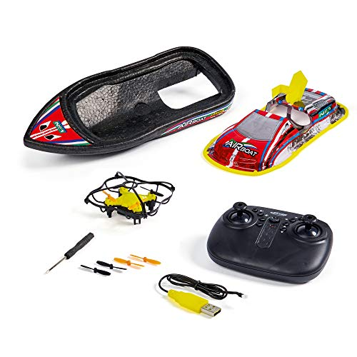 Carson Air Boat 2.4G 100% RTR, 3 in 1, Multifunktionsdrohne, Ferngesteuertes Boot, RC Quadcopter, Drohne, inklusive Fernsteuerung, 500108040