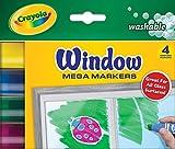 Crayola 58-8166 Washable Window Mega Markers-4/Pkg
