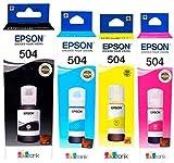 Epson Kit de 4 Tinta T504 para L4150 L4160 L6161 L6171 Kit Especial DECME