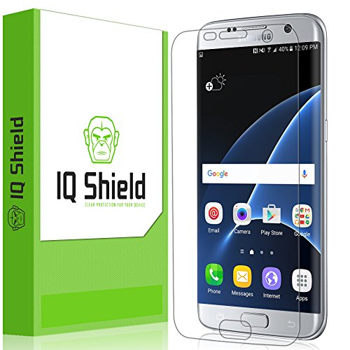 IQ Shield Screen Protector Compatible with Samsung Galaxy S7 Edge (Full Coverage) Anti-Bubble...