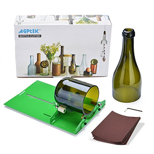 New Bottle Cutter, AGPtek Glasflasche Cutter Scoring-Maschine Ausschnitt-Tool zum Erstellen von Stained Glass, Flaschen Pflanzmaschinen, Flaschen Lampen, Kerzenständer