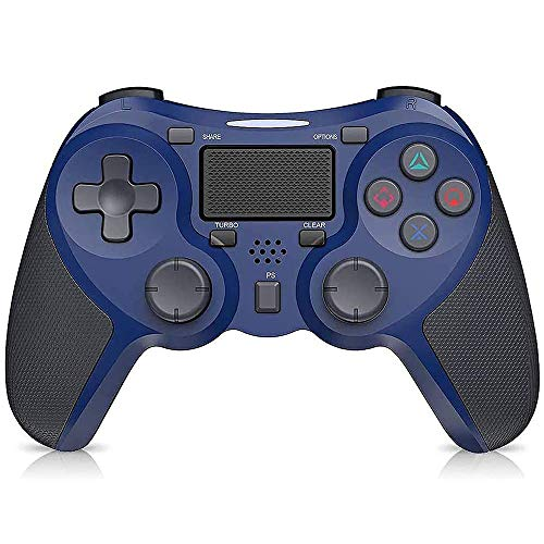 STOGA Controller für PS4, Wireless Controller für PlayStation 4/Pro/Slim, Touchpanel-Gamepad mit Dual Vibration Shock, Turbo und Audio-Buchse Joystick Controller für PS4