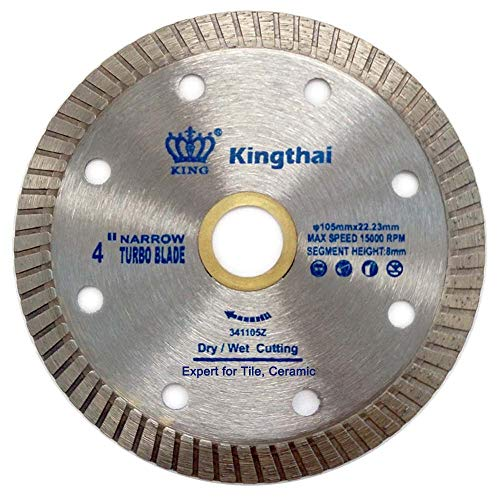 Kingthai 4 Inch Super Thin Tile Turbo Continuous Rim Diamond Blade for Ceramic Porcelain