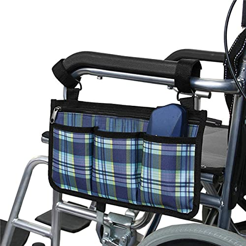 Namvo Bolsa para Silla de Ruedas Bolsillos - Bolsa Lateral Universal para reposabrazos Impermeable para Silla de Ruedas eléctrica, Scooter de Movilidad, Marco para Caminar, Accesorios