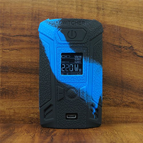ModShield for Vaporesso SWITCHER 220W TC Silicone Case ByJojo Protective Cover Shield Wrap Skin (Blue/Black)