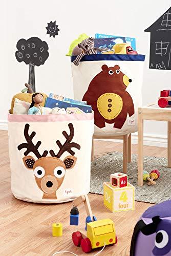 3 Sprouts Aufbewahrungskorb Fuchs Spielzeugkorb Stoffkorb H45 cm Kinderzimmer