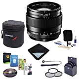 Fujifilm XF 23mm (35mm) F/1.4R Lens - Bundle with 62mm Filter Kit, Lens Wrap, Lens Case, Cleaning Kit, Capleash and Professional Software Package