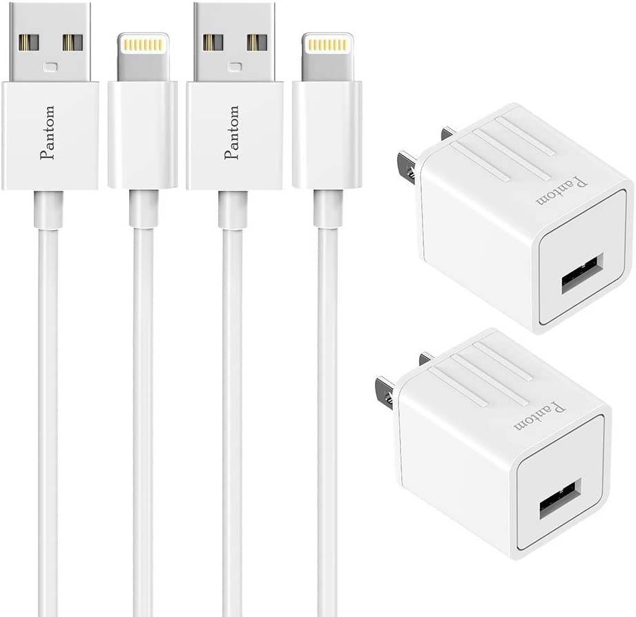 Amazon.com Pantom 8 Pack Wall Charger Plugs with 8 Pack 8 Feet ...