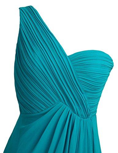 Freebily Vestido Largo de Gasa para Mujer Dama de Honor Vestido de Cóctel Fiesta Ceremonia Noche Verde Azulado 46