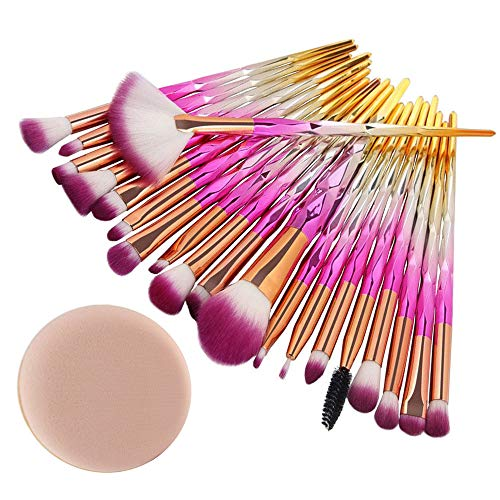 Professional 20pcs pinceau de maquillage multifonctionnel de fondation Mode Conception Make Up Brosses maquillage base sourcil eyeliner blush pinceaux cosmétique anticernes