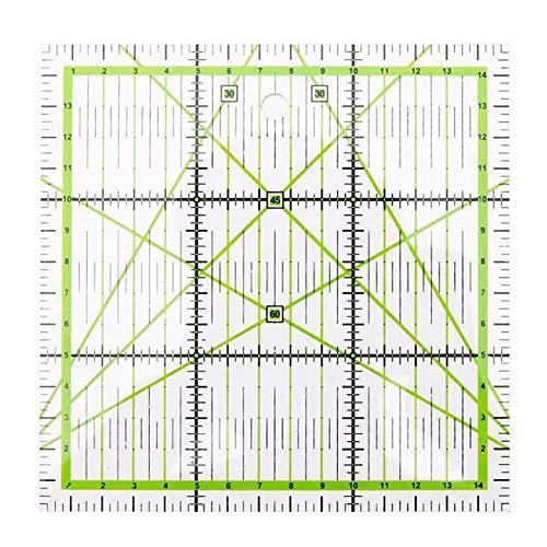 Jiacheng29 Quadratisches Patchwork-Schneider-Lineal, Quilt-Lineal, handgefertigt, Nähwerkzeug multi