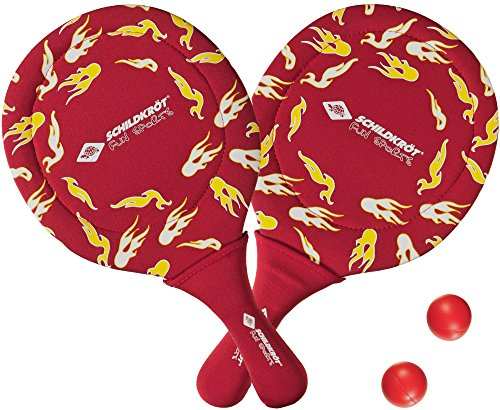 Schildkröt Fun Sports Neoprene Beachball Set 2 raquettes, 2 balles plastique rouge / noir / blanc