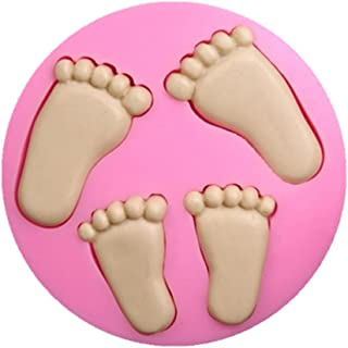 FantasyBear Feet Mold,Soap Clay Fimo Chocolate Sugarcraft Baking Tool DIY Mold for Baby Shower Birthday Party Cake Decoration