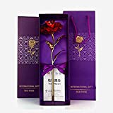 Roses Are Dipped in 24K Golden To Preserve The Roses For A Lifetime Rose Represent Love And 24K Gold Rose Stand For Forever Love..  Brand - INTERNATIONAL GIFT  Material: Plastic  Product dimensions:(LxWxH):- 25 cm x 6 cm x 6 cm  Best Gift for Valenti...