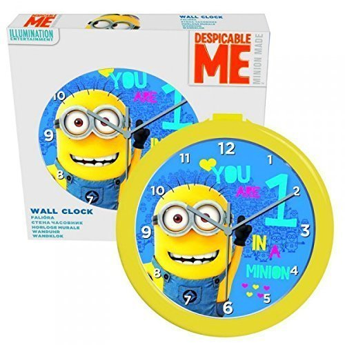 Despicable Me Wanduhr Minion gelb & blau