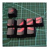 Teclado 8pcs sublimación PBT Nombres de Teclas ESC QWERASD Clave Cap for MX Interruptor de Teclado mecánico Decoración con Clave del Tirador (Color : Keycaps)