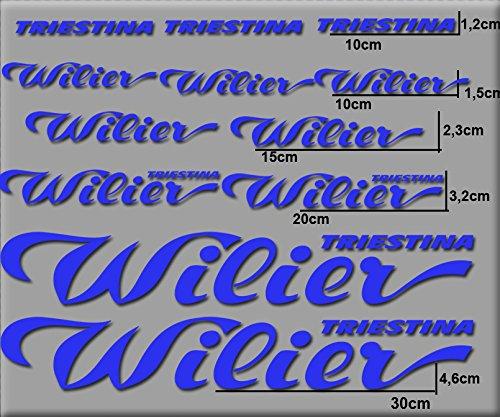 Ecoshirt 1O-FSEQ-RSXQ Sticker Wilier R116 Vinyl Sticker Decal Sticker MTB Fiets blauw