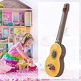 Mini-Gitarre Puppenhaus Mini Gitarre Miniatur Modell 1:12 Puppenhaus 1 PC Gitarre Zubehör...
