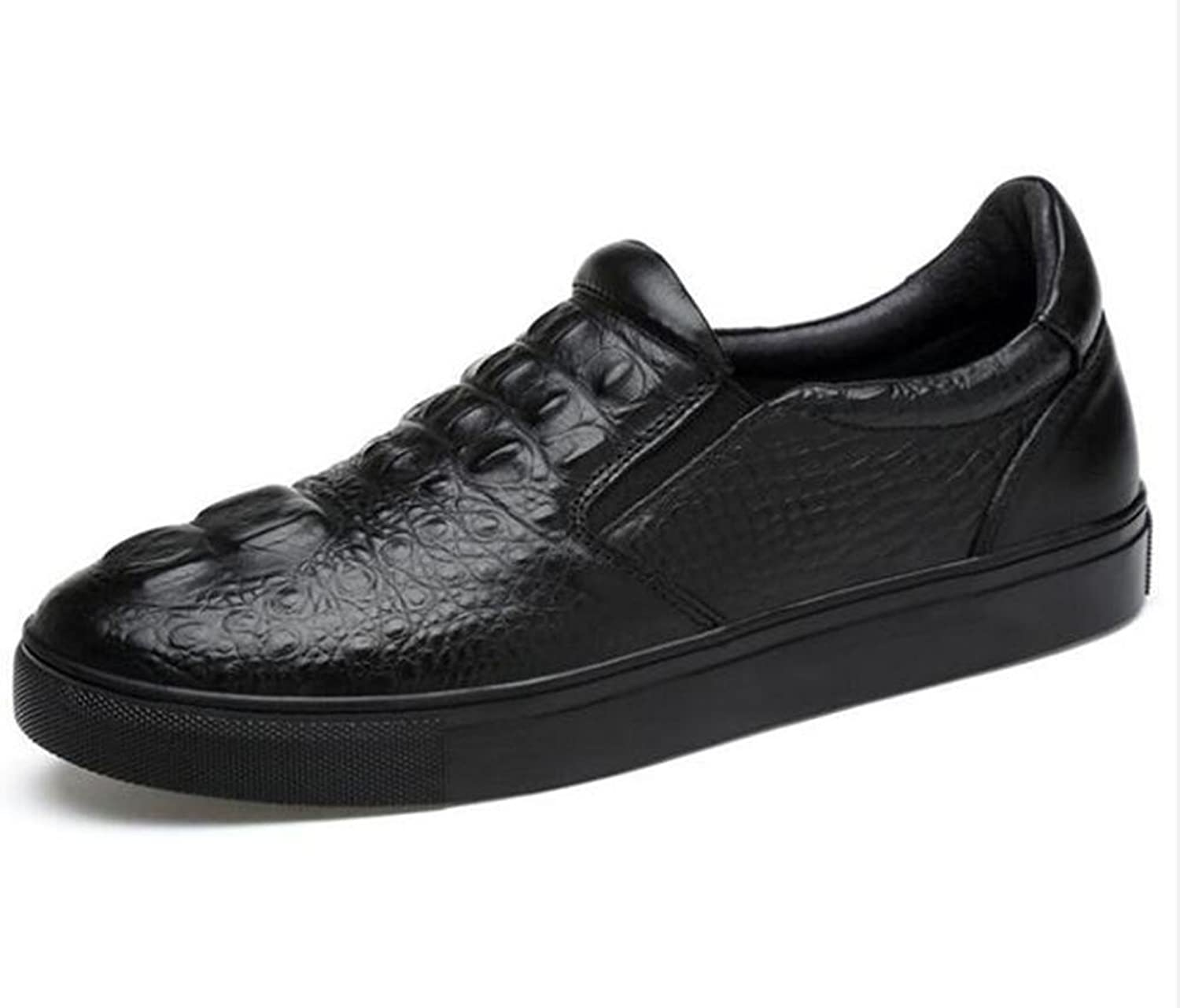 Men shoes Leather Casual Slip-On Oxford Faux Crocodile Sneakers Loafers Size 39To 45