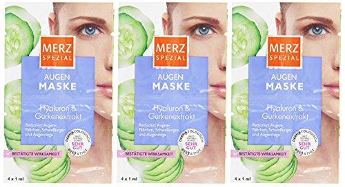 Merz Spezial Augenmaske Hyaluron und Gurkenextrakt 4x1ml, 3er Pack (3 x 4 ml)