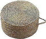 Tumbonas, futón Paja/Taburete Redondo, Estilo rústico Zen Pad Simple Ceremonia del té Taburete, Adecuado para Sala Estar, casa té, Patio