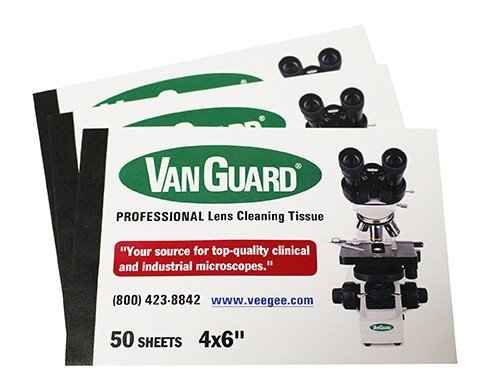 Vee Gee 1400-LP Lens Cleaning Paper Booklet, 4' x 6' Booklet, 50 Sheets Per Booklet, Use for All Microscope Models