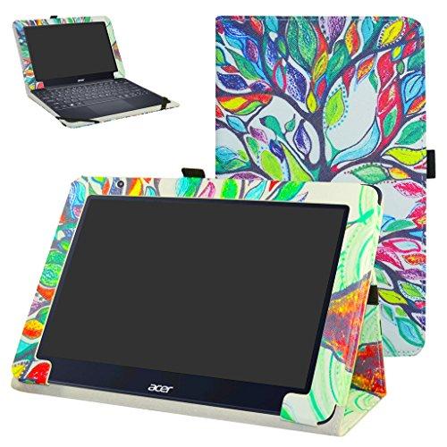 """Acer One 10 S1003 Custodia,Mama Mouth slim sottile di peso leggero con supporto in Piedi caso Case per 10.1"""" Acer One 10 S1003 Windows 10 Tablet 2016,Love Tree"""