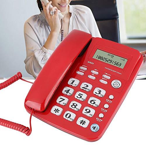 Teléfono residencial Ahorro de energía Teléfono de Oficina Llamadas Manos Libres, para el hogar, para la Oficina(Red)