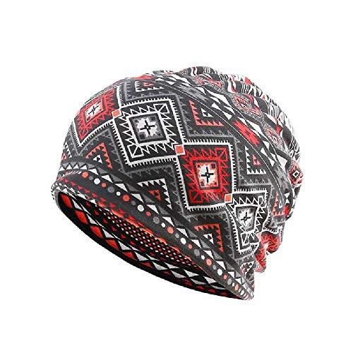 JTXJ Bonnet Beanie Motif d'impression Numérique Hat Hat Cap Bib Diamond Black