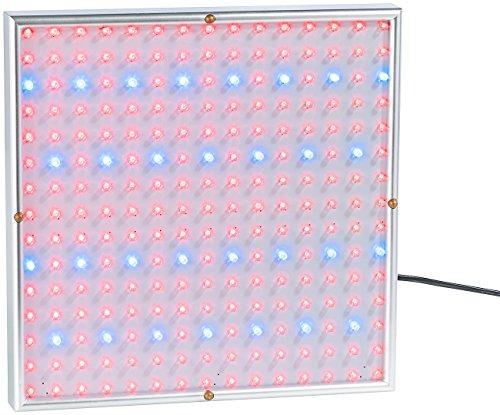 Lunartec LED Wachstumslampe: Profi LED-Pflanzen-Wachstums-Leuchtpanel mit 225 LEDs, 250 Lumen (Wachstumslampen für Pflanzen)