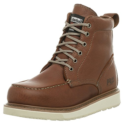 "Timberland PRO Men's 53009 Wedge Sole 6"" Soft-Toe Boot,Rust,14 W"