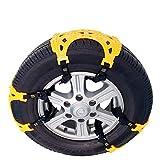 mlzaq Catene da Neve Car Tyre TPU Ispessimento Emergenza Universale Catene Antisdrucciolevoli Esterne Inverno Pneumatici Catene for Auto SUV Camion Accessori (Size : 3PCS)