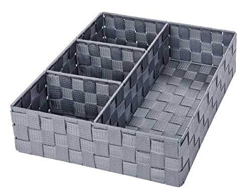 WENKO Organizer Adria Grau Box Wäsche Wäschebox Ablage spielzeugbox Ablagekorb