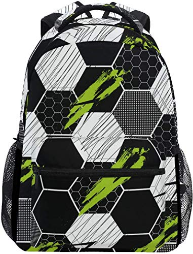 WKLNM Zwart Wit Honing Abstract Geomtric Patroon Casual Rugzak Student School Tas Reizen Wandelen Camping Laptop Daypack