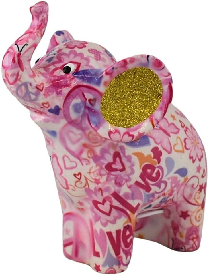 Pomme pidou Decorative Pink Ceramic Opening large release sale Money Darcy Elephant Bank Max 64% OFF