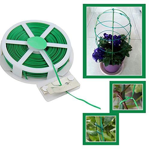 Hete-supply Garden Plant Ties Flexible Twist Garden Plant Wire & Cutter Guillotine Dispenser Tie Line Gardening Accessories Tools 50M/15M
