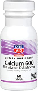 Rite Aid Calcium, 600 mg, and Minerals with Vitamin D, Tablets, 60 Tablets