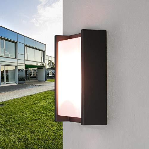 Outdoor Wandleuchte Anthrazit eckig IP44 blendarm wetterfest HAGEN Außenlampe Haustür Terrasse
