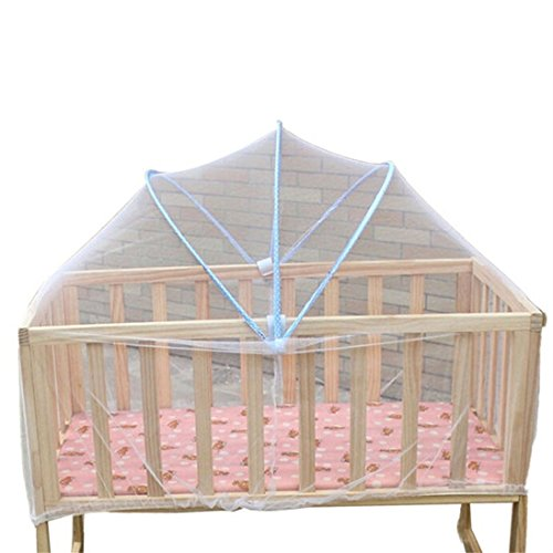 Universal Baby Cradle Bed Safe Arched Baby Mosquito Net Pop-up Mosquito Net Tent Baby Crib Netting Mosquito Repelling Net Baby Canopy Bed Netting (Color Random)