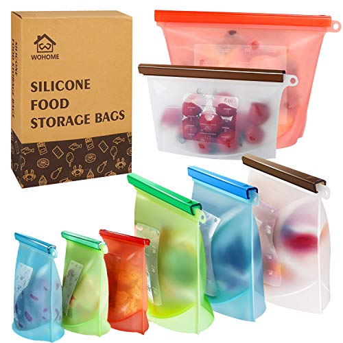 (50% OFF Coupon) Reusable Silicone Food Storage Bags $8.50