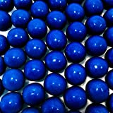 Royal Blue Gumballs - One Inch in Diameter - 2 Pound Bag - About 120 Gumballs Per Bag - Includes 'How to Build a Candy Buffet' Guide