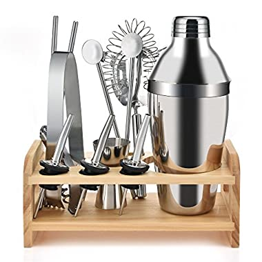 Dearmoon 12 Sets of Stainless Steel Cocktail Shaker Kit,Bartending Tools and Premium Bar Tool Set
