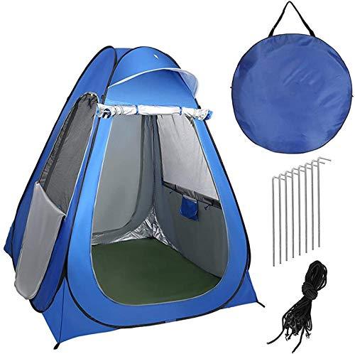 Tiendas de campaña para acampar Tienda de ducha al aire libre Portátil Ducha al aire libre Tienda Impermeable Ligero Ligero Easy Set Fácil Campamento Lluvia Plegable Refugio para Camping Pesca Apto pa