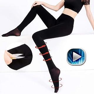YIJUPIN 女性用足間伐秋ストッキングナイロンボールプラスタイツ(2パック) (Color : Black(2 pack), サイズ : Even foot)