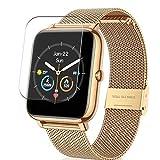 Vaxson 3 Stück Schutzfolie, kompatibel mit CanMixs B85 Smartwatch Smart watch, Displayschutzfolie TPU Folie [ nicht Panzerglas ]