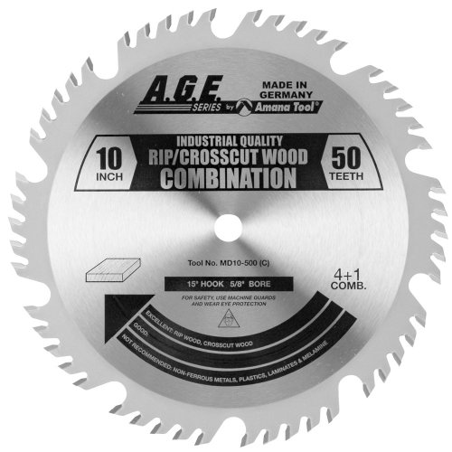 a.g.e. Series by Amana Tool MD10–500combinazione 25,4cm di diametro per 50-teeth foro da 5/20,3cm, 4& 1Grind carburo lama per sega