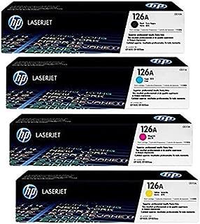 HP 126A (CE310A) Black and (CF341A) Cyan, Magenta, Yellow Original Toner Cartridge Set