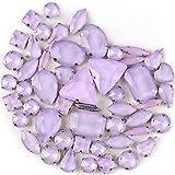 Brillabenny 50 Pietre CASTONI Strass da Cucire Cristallo Vetro Mix CABOCHON Stone Claw DECORI Gioielli Bijoux Abito Scarpe (Lilla)