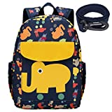 elephant harness backpack - willikiva Cute Zoo Little 2d Backpack Kid Backpacks for Girls and Boys Toddler Backpack Waterproof Preschool Safety Harness Leash(Elephant)